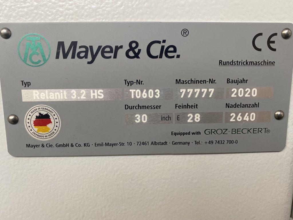 Illustration of lasting success of circular knitting machine manufacturer Mayer & Cie.