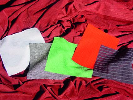 Illustration of various samples of circular knits.